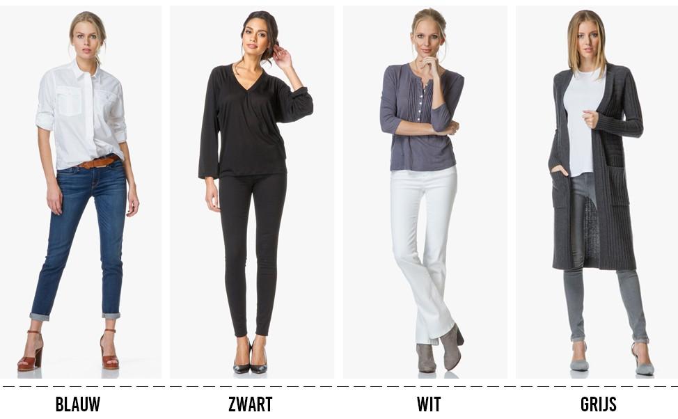1ccb3a333c7fd9 Grijze denim oogt net wat chiquer dan een klassieke blauwe jeans en is met  diverse kleurtinten te combineren. Draag met felle kleuren voor een  opvallende ...