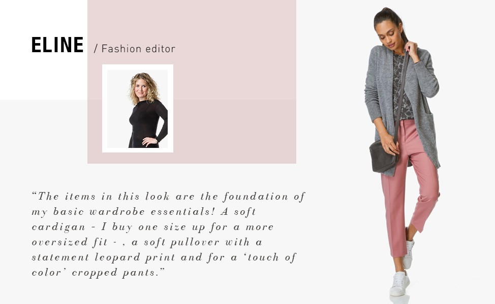 """e552fabea1f """"The items in this look are the foundation of my basic wardrobe essentials!  A soft cardigan - I buy one size up for a more oversized fit -"""