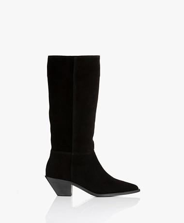 ba&sh Cowby Suede Boots - Black
