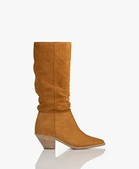 ba&sh Cowby Suede Boots - Ochre