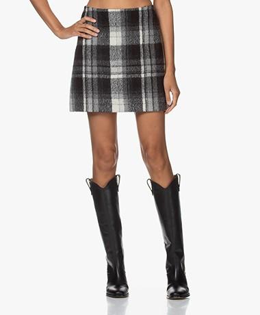 Vanessa Bruno Powell Checked Mini Skirt - Black