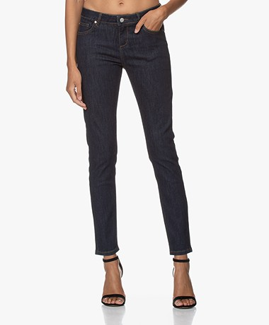MKT Studio The Bardot Wilson Slim-fit Jeans - Dark Blue Rinse Wash
