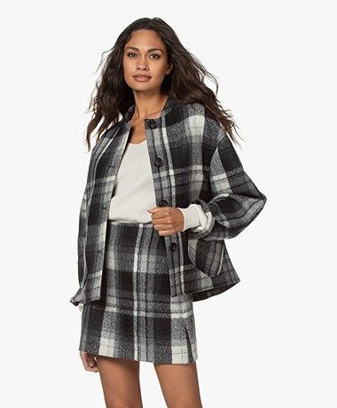 Vanessa Bruno Presley Checked Blazer Jacket - Black