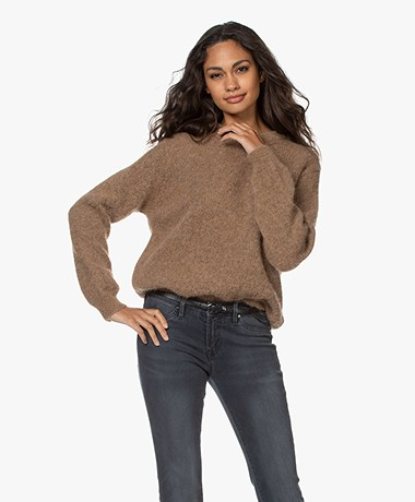 by-bar Lana Alpaca Blend Round Neck Sweater - Camel