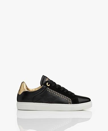 Zadig et Voltaire ZV1747 Skulls Sneakers - Zwart/Goud