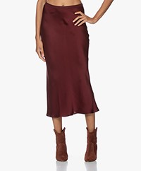 ANINE BING Bar Silk Skirt - Burgundy