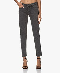 MKT Studio The Birkin Power Stretch Girlfriend Jeans - Grey Kurt Wash