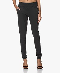 Woman By Earn Amber Tech Jersey Pants - Dark Grey