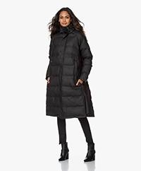 Maium Waterproof Long Puffer Coat - Black