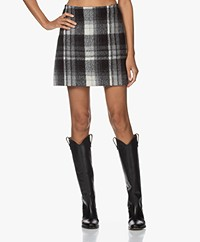 Vanessa Bruno Powell Checked Mini Skirt - Black