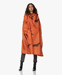 Rainkiss The Birds Recycled Rain Poncho - Orange/Black
