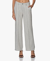 Josephine & Co Jolien Wool Blend Straight-leg Pants - Light Grey