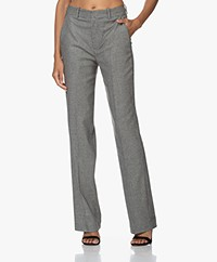 Drykorn Order Houndstooth Pants - Rainy Day