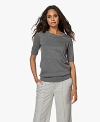 JapanTKY Kie Short Sleeve Sweater - Grey