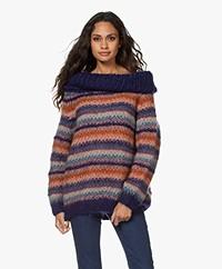 Mes Demoiselles Dolcevita Striped Boat Neck Sweater - Multi-color