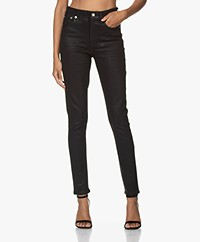 Rag & Bone Nina High-Rise Skinny Jeans - Coated Zwart