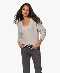 by-bar Quinty Fisherman's Button-through Cardigan - Silver Stone