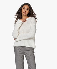 By Malene Birger Beta Grof Gebreide Mohairmix Trui - Soft White