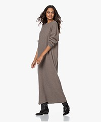 extreme cashmere N°106 Weird Knitted Cashmere Maxi Dress - Tree