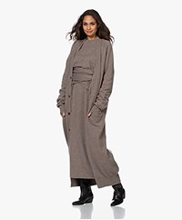 extreme cashmere N°125 Coco Maxi Button-through Cardigan - Tree