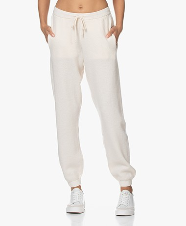 American Vintage Tadbow Merino Knitted Sweatpants - Mother of pearl