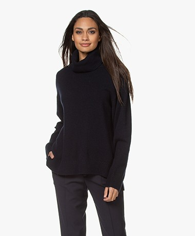 Filippa K Molly Wool Blend Turtleneck Sweater - Navy