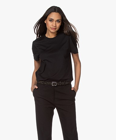 Joseph Cotton Short Sleeve T-shirt - Black