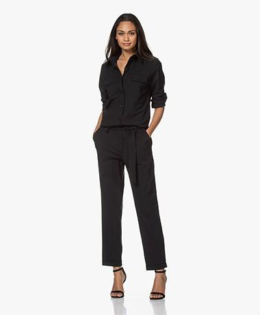 Woman By Earn Bri Tech Jersey Boiler Suit - Black
