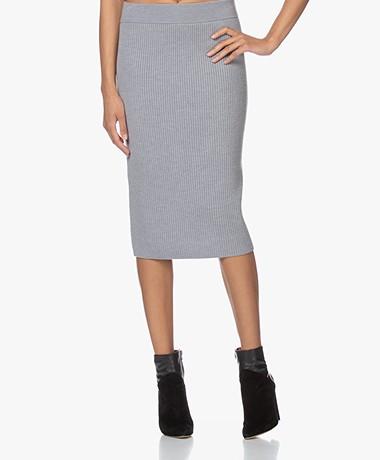 Drykorn Kama Knitted Pencil Skirt - Grey