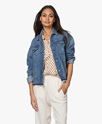 Denham Cape BCI-cotton Denim Jacket - Blue