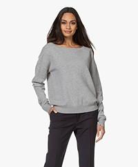 extreme cashmere N°39 Should Cashmere Boothals Trui - Lichtgrijs Mêlee