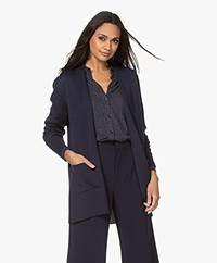 Sibin/Linnebjerg Joan Mid-length Two-tone Cardigan - Navy/Off-white