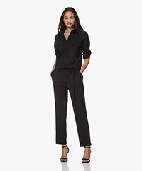 Woman By Earn Bri Tech Jersey Boiler Suit - Black