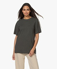 extreme cashmere N°64 Long Knitted T-shirt - Khaki