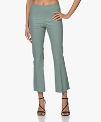By Malene Birger Phase Kick-flare Leather Pants - Lily Pad
