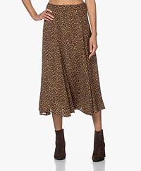 Les Coyotes de Paris Quinci Leopard Midi Skirt - Camouflage Leopard