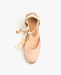 Castaner Carina Canvas Wedge Espadrilles - Rosa Palo