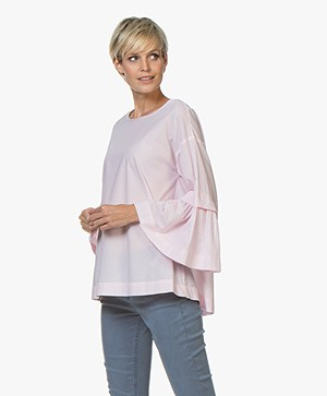 Repeat Gestreepte Poplin Blouse - Blossom