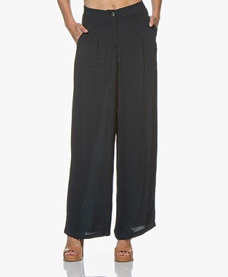 Marie Sixtine Leo High-rise Pants - Prusse