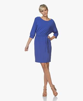 no man's land Crêpe Jersey Dress - Royal Blue