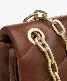 Zadig & Voltaire Ziggy XL Matelasse Shoulder Bag - Tan