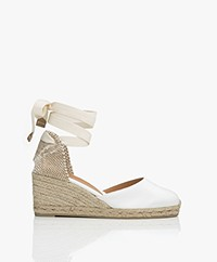 Castaner Carina 7cm Canvas Wedge Espadrilles - White