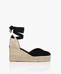 Castaner Chiara 9cm Wedge Espadrilles - Black