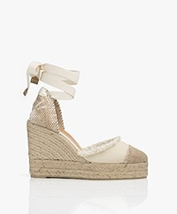 Castaner Catalina 11cm Canvas Wedge Espadrilles - Ivory