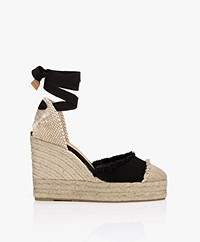 Castaner Catalina 11cm Canvas Wedge Espadrilles - Black