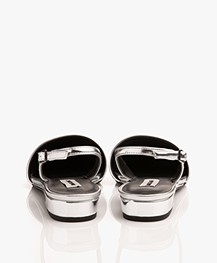 Matt & Nat Cory Sling Back Sandals - Silver