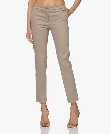 Woman by Earn Stretch Cotton Pants - Sand