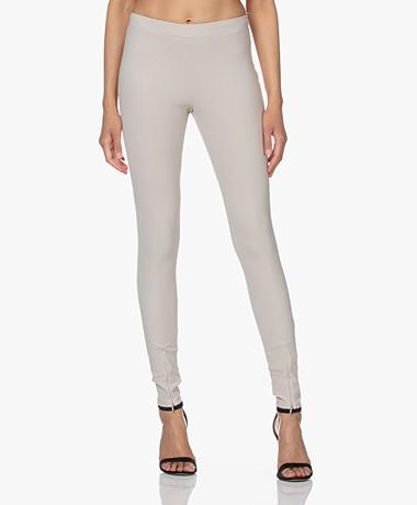 Woman by Earn Mae Tech Jersey Slim-fit Broek - Zand