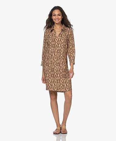 Drykorn Domrike Viscose Printed Dress - Tapioca