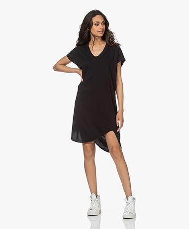 bassike Boxy Organic Cotton T-shirt Dress - Black